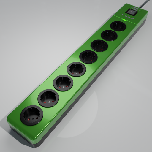 Thumbnail: Brennenstuhl hugo! 8-way socket strip green