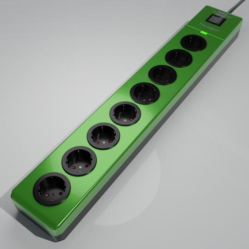 Thumbnail: Brennenstuhl hugo! 8-way socket strip green