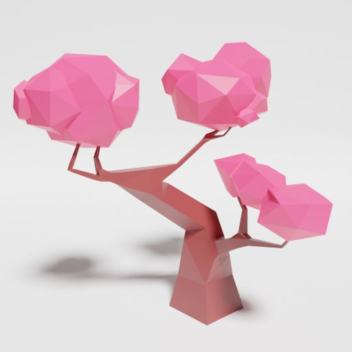 Thumbnail: Low Poly Japan Tree 2 Singlecolor