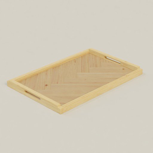 Thumbnail: Asymmetric Wooden Tray