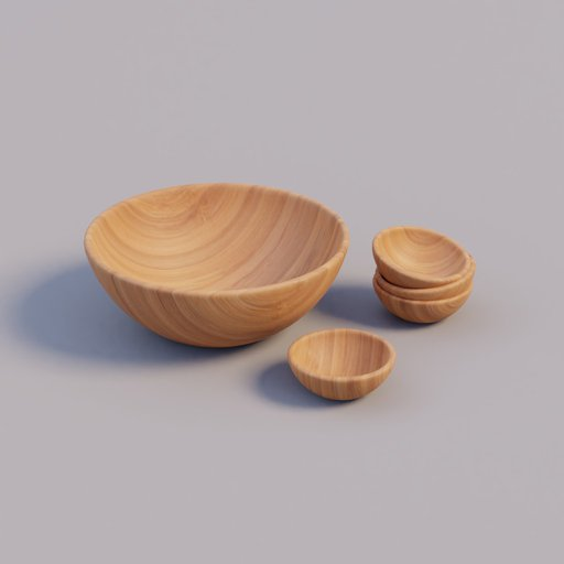 Thumbnail: Set of wooden bowls