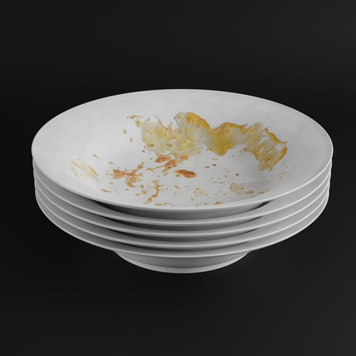 Thumbnail: Dirty plates with food scraps