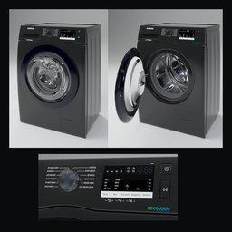 Thumbnail: Samsung ww80r421hfx Black Washer