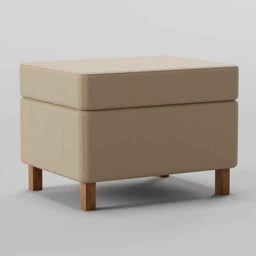 Thumbnail: Krefeld Ottoman Footstools 66x52x43