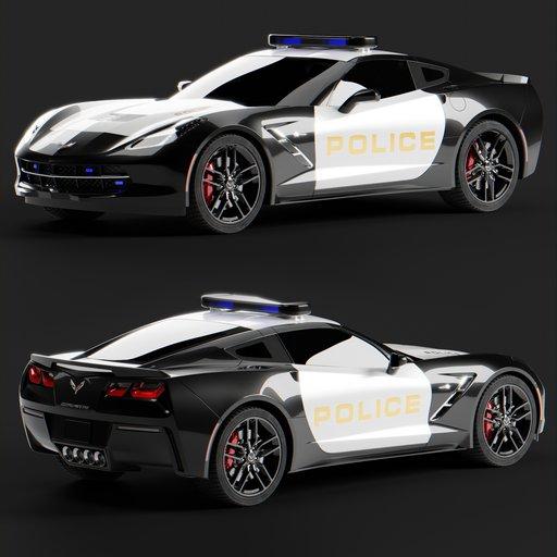 2018 Corvette Police Car