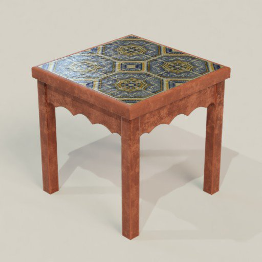 Thumbnail: Small Table with Ceramic Tiles