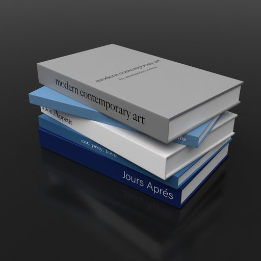 Thumbnail: Stack of magazines Blue Grey