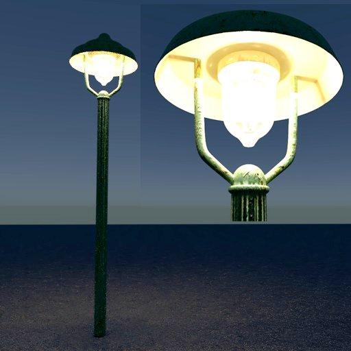 Thumbnail: Historic gas street lamp on