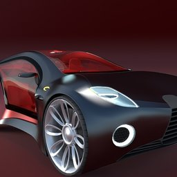 Thumbnail: Concept styled sports car 1