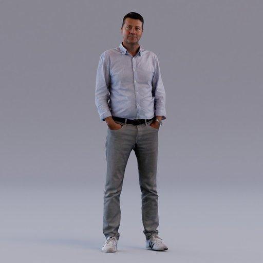 3D soul - standing young man - Pekka