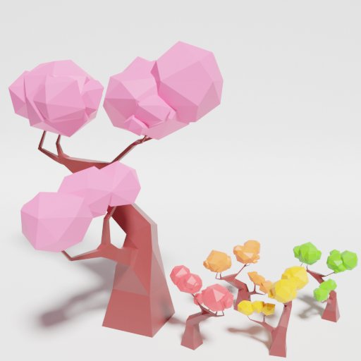 Thumbnail: Low Poly Japan Tree 2 Multicolor