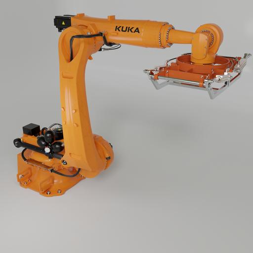 Robot KUKA Quantec with Palet gripper
