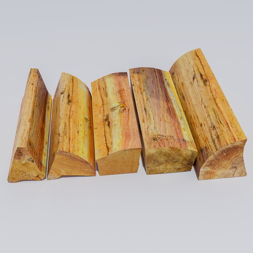 Thumbnail: Five pieces of firewood.