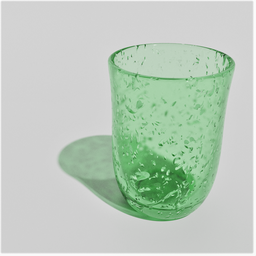 Thumbnail: Green dotted Glass