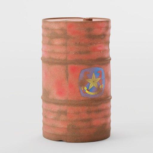 Old Metal Cylinder Drum
