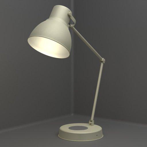 Thumbnail: Ikea Hectar Beige Table Lamp