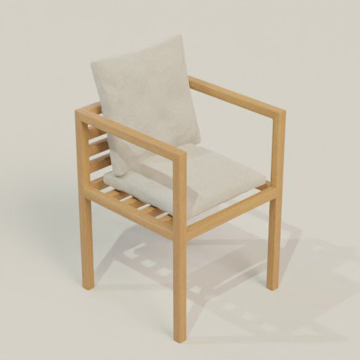 Thumbnail: Wooden Chair 60 x 60 x 83