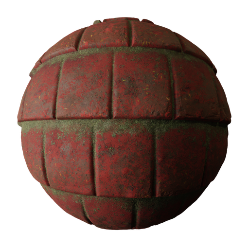 Thumbnail: Mossy Roof Tiles PBR Texture Seamless