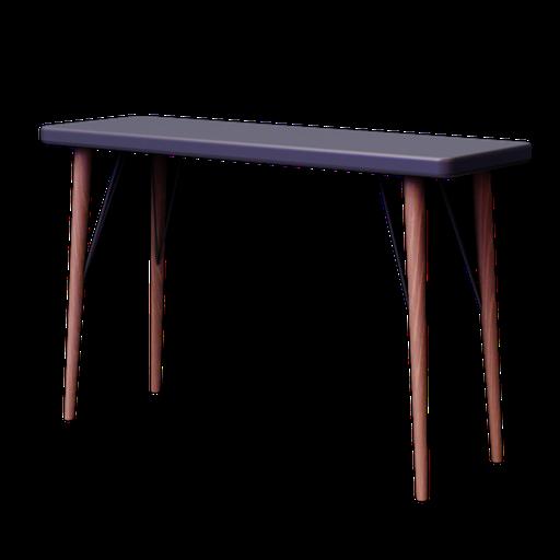Thumbnail: CLEVELAND, Table console en bois grise L 120 cm