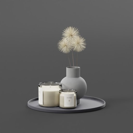 Thumbnail: Candle dandelion Pot Wood Tray