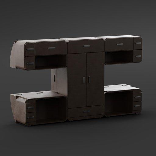 Thumbnail: Dark wood bedroom furniture