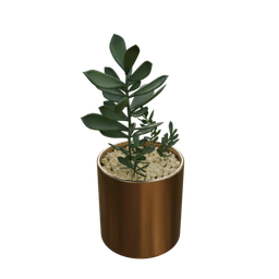 Thumbnail: Vase and plant artificial arrangement-01