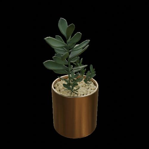 Thumbnail: Vase and plant artificial arrangement-01