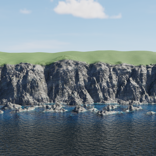 Thumbnail: Large cliff & animated ocean