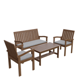 Thumbnail: Outdoor chair and coffee table