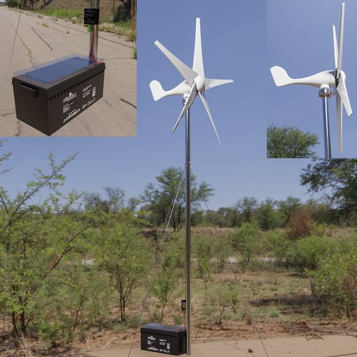 Thumbnail: A small wind turbine 200 watts.