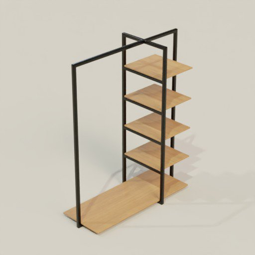 Thumbnail: Clothing Rack Shelving Bookcase 160 x 68 x 200