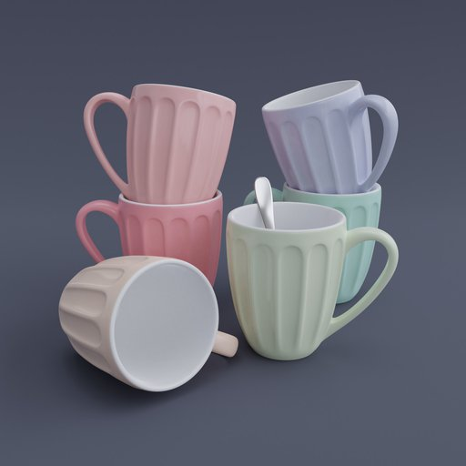 Thumbnail: Colored Mug Set