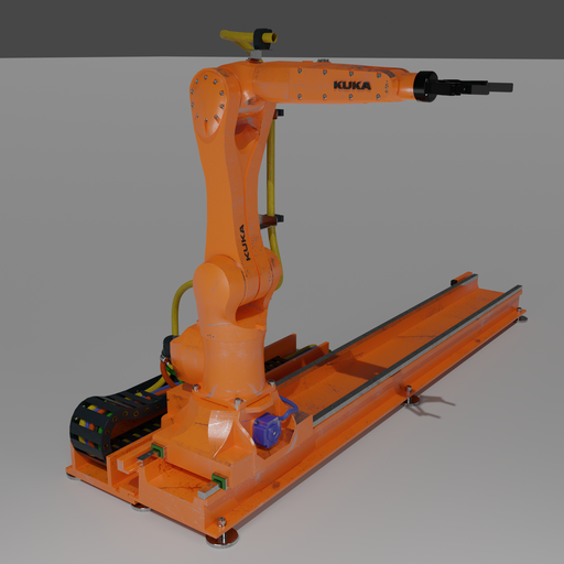 Robot KUKA AGILUS 10 R2100 on a KL100