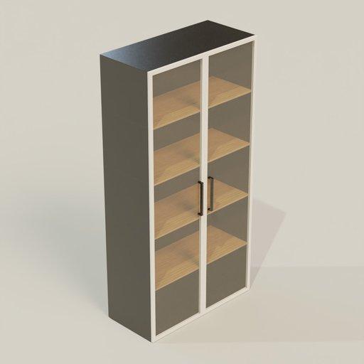 Cupboard 900  450 1800 mm Glass Door