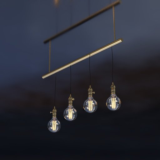 Thumbnail: Vintage industrial Chandelier Line