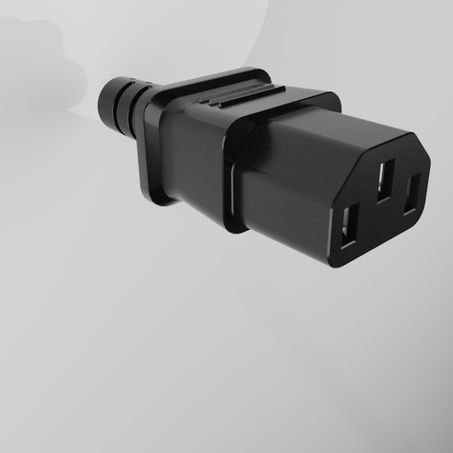 Thumbnail: IEC connector type C14 - rear strain relief