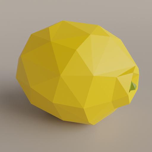 Thumbnail: Low Poly Lemon