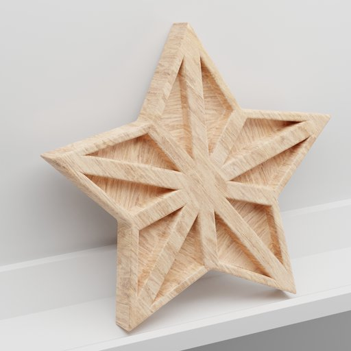 Thumbnail: Wooden decoration star