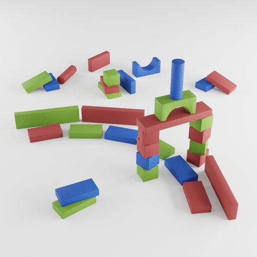 Thumbnail: Colorful building blocks in kids room