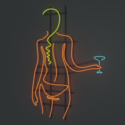 Thumbnail: Neon Martini Bikini Sign