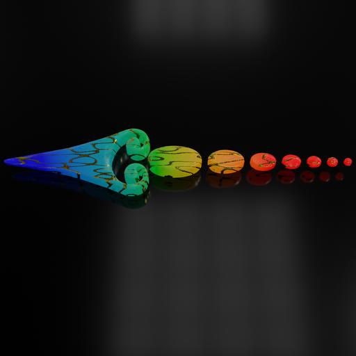 Colorful glowing arrow 12