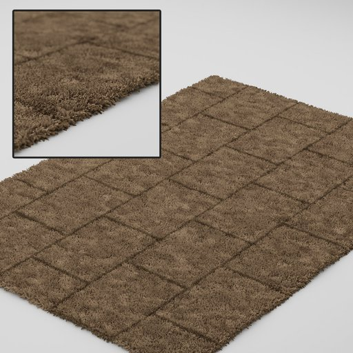 Thumbnail: Modern brown carpet with brick Texture