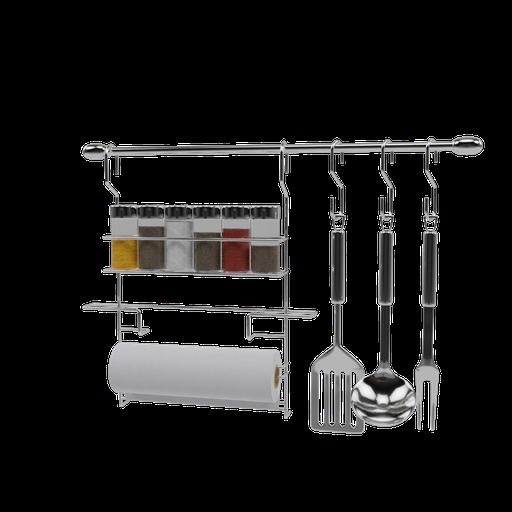 Aluminum utensil holder