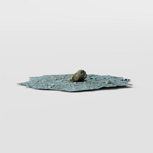 Small Stone on Gravel