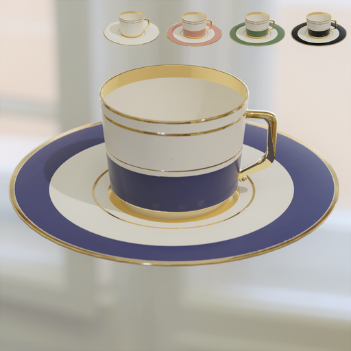 Thumbnail: Old cup and plate