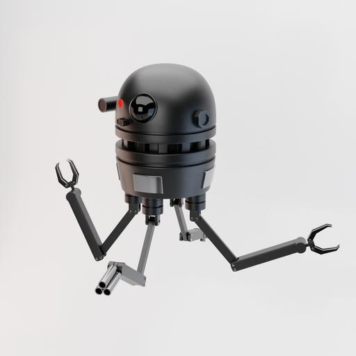 Simple Sci-Fi Drone Robot