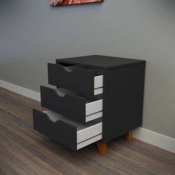 Thumbnail: Black bedside table