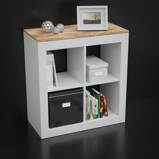 Thumbnail: IKEA style shelf with decoration set