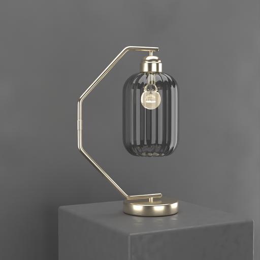 Thumbnail: Darker Glass C Curve Night Stand Lamp
