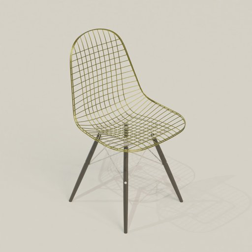 Thumbnail: Metalic wire chair